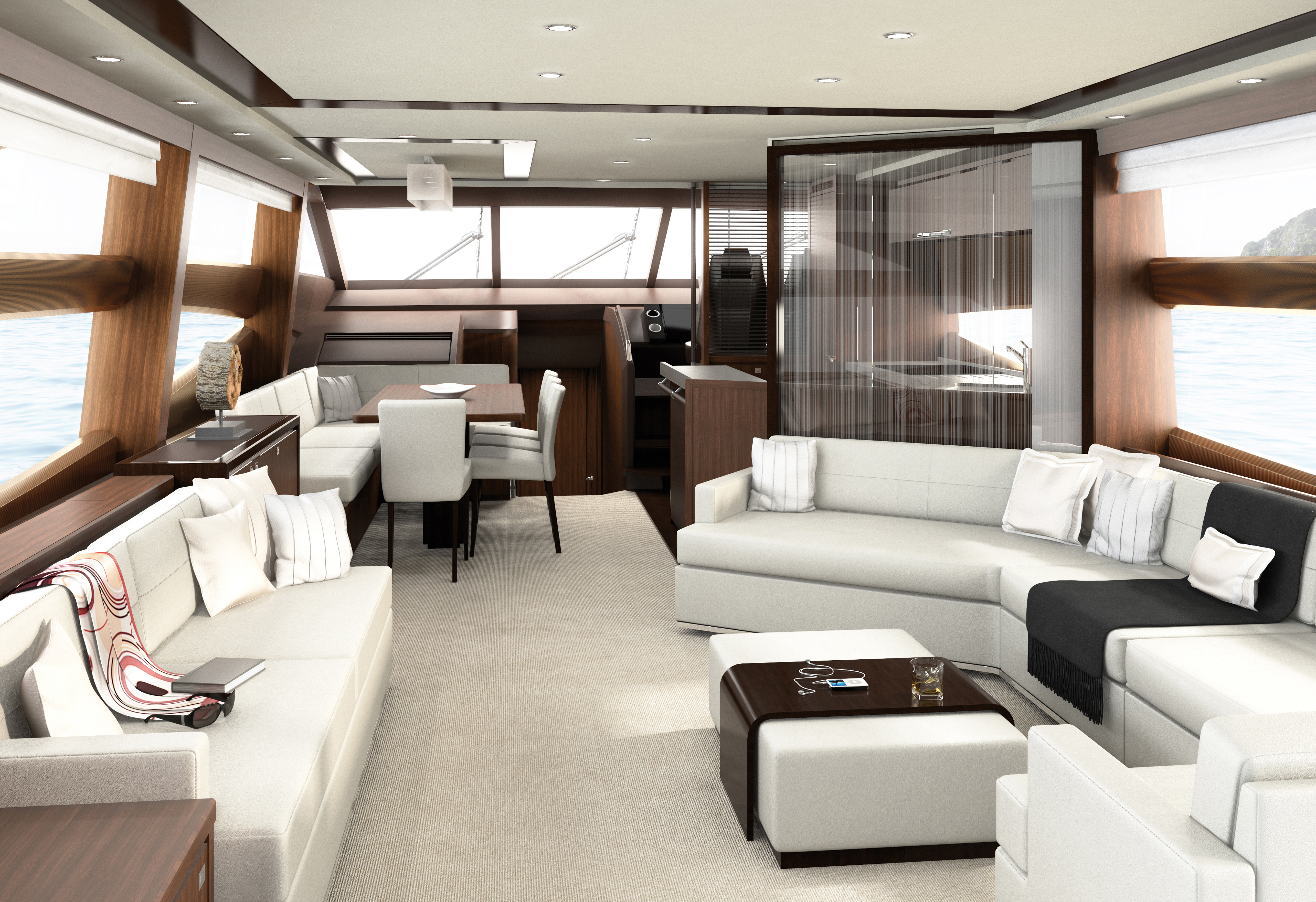 The wetbar, barbeque and generous space of the flybridge also make for a ...