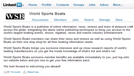 World Sports Boats Linkedin Group