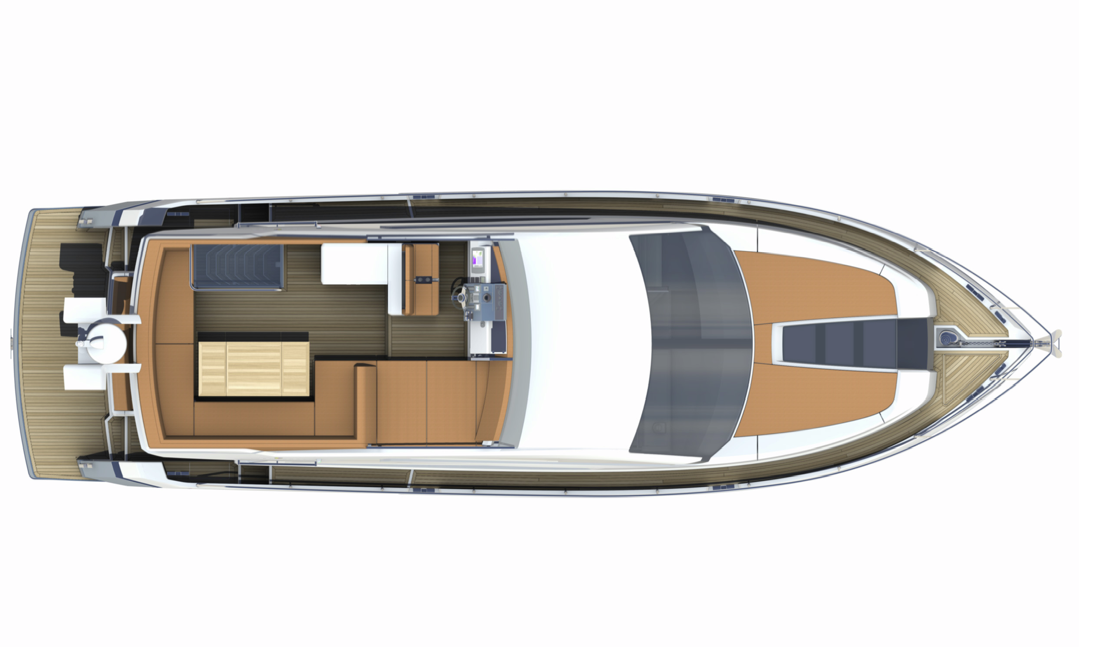 Fairline 50 Squadron. The large flybridge provides plentiful areas for ...
