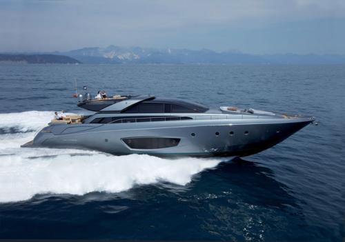 Riva 86 Domino. The clean, winning lines of this 26 metre open, ...