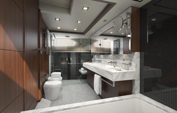 Princess 32 M Class bathroom