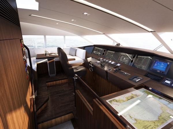 Princess 32 M Class Cockpit