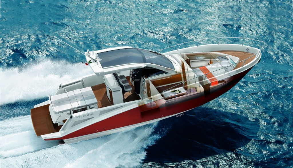 The new Azimut 38 and Atlantis Verve 36 at the London Boat Show 2011