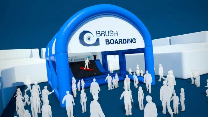 London International Boat Show - Brush Boarding