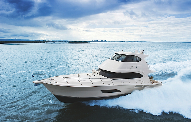 Riviera 61 Enclosed Flybridge. Now with a number of ground breaking design ...