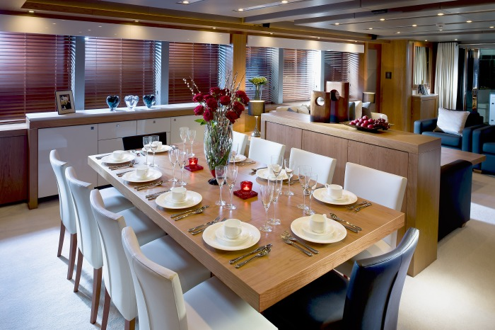 Sunseeker Predator 115 Dining Area
