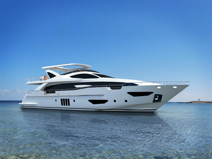AZIMUT GRANDE_95RPH_VIEW_WHITE_HULL