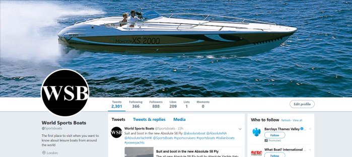 Sports Boats Twitter