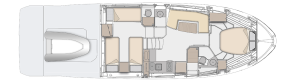 Azimut Atlantis 45 Layout
