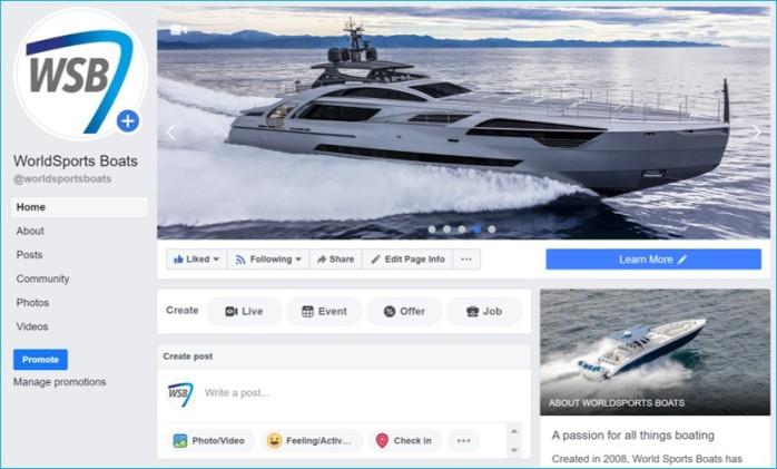 World Sports Boats Facebook