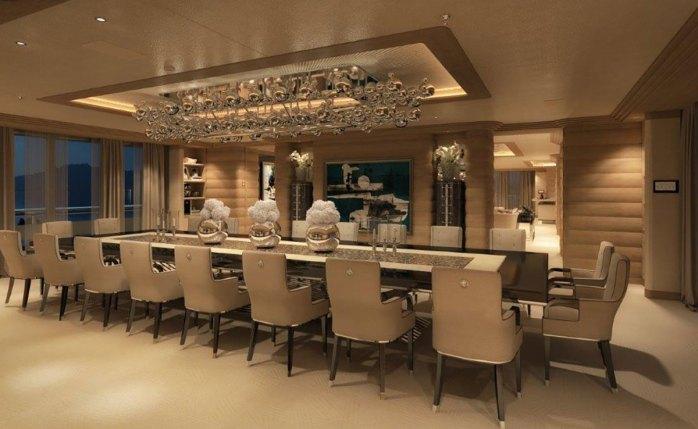 Benetti Lana main-deck-dining
