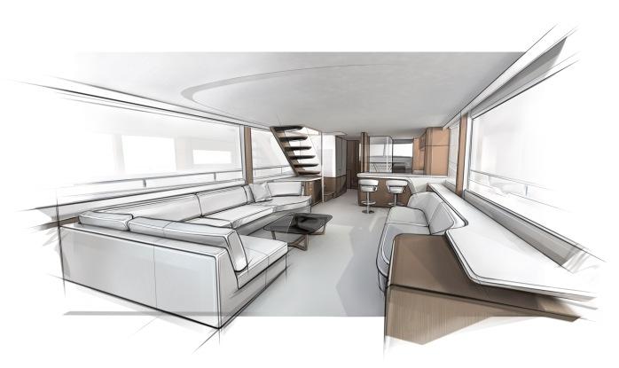 Princess X80 interior saloon