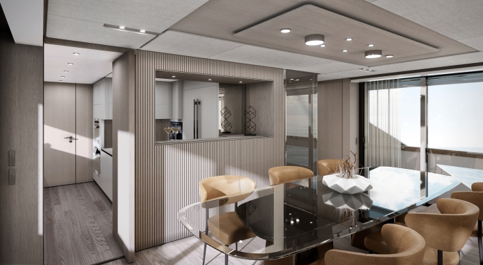 Ferretti Yachts 1000 interior
