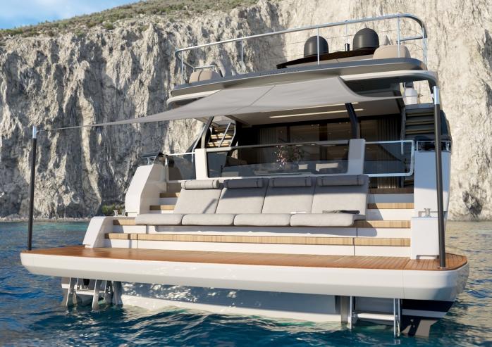 Ferretti Yachts 1000 Beach Aft