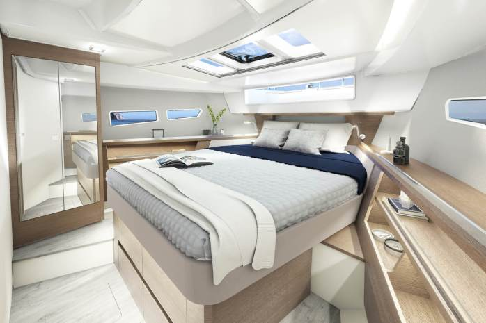 Sealine c335 and c335v master bedroom