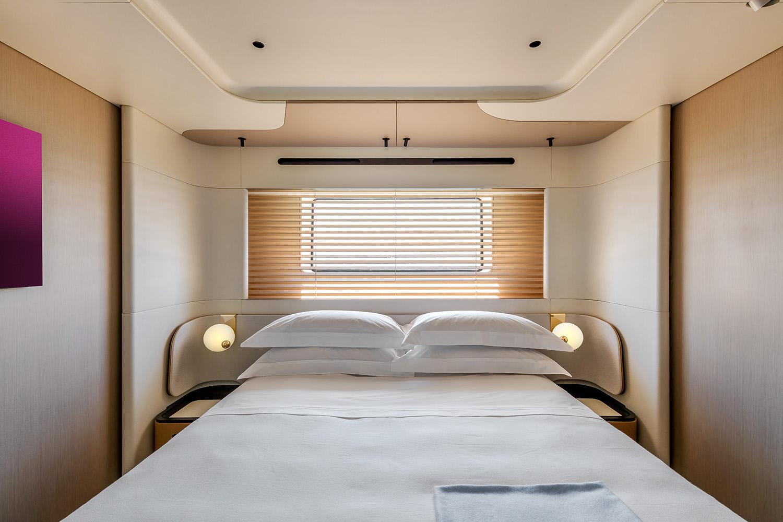 Azimut Grande Trideck Port Side VIP Cabin