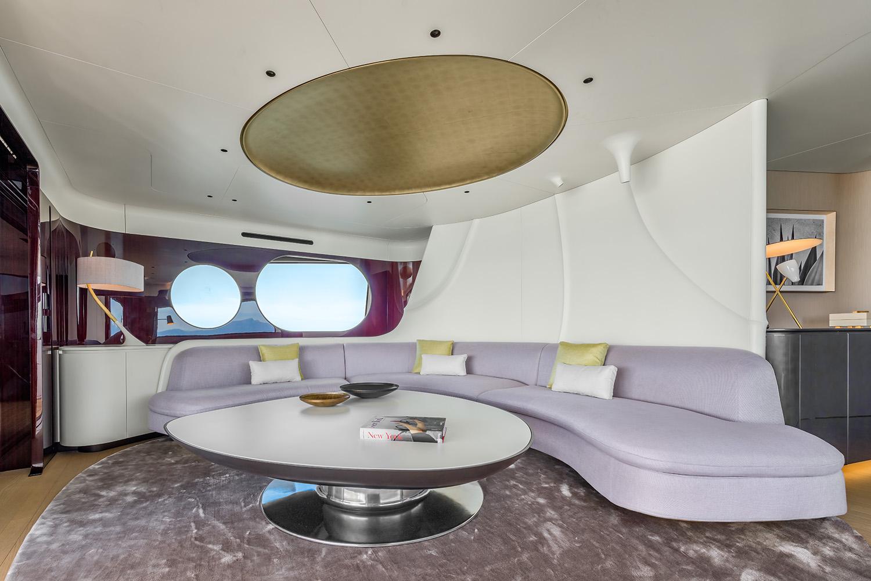 Azimut Grande Trideck Upper deck lounge