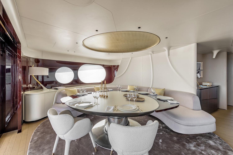 Azimut Grande Trideck Upperdeck Lounge Dining